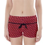 Red Passion Floral Pattern Boyleg Bikini Wrap Bottoms