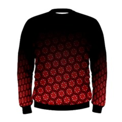 Ombre Black And Red Passion Floral Pattern Men s Sweatshirt by DanaeStudio