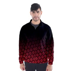 Ombre Black And Red Passion Floral Pattern Wind Breaker (men) by DanaeStudio