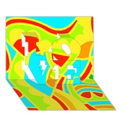 Colorful Decor Love 3d Greeting Card (7x5) by Valentinaart