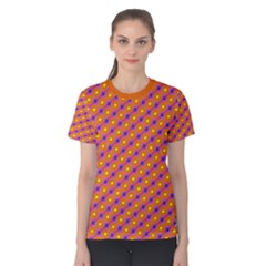 Vibrant Retro Diamond Pattern Women s Cotton Tee