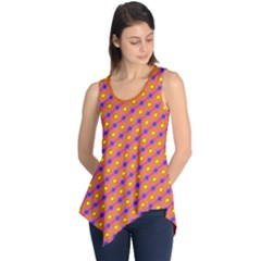 Vibrant Retro Diamond Pattern Sleeveless Tunic