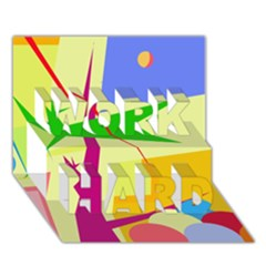 Colorful Abstract Art Work Hard 3d Greeting Card (7x5) by Valentinaart