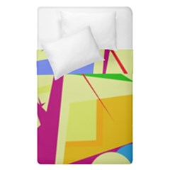 Colorful Abstract Art Duvet Cover (single Size) by Valentinaart