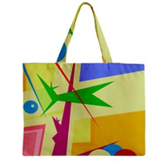 Colorful Abstract Art Medium Zipper Tote Bag