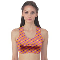 Vibrant Retro Diamond Pattern Sports Bra