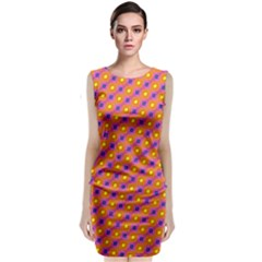 Vibrant Retro Diamond Pattern Classic Sleeveless Midi Dress