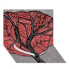 Decorative Tree 1 Heart Bottom 3d Greeting Card (7x5) by Valentinaart
