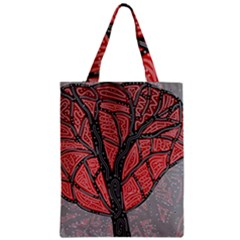 Decorative Tree 1 Zipper Classic Tote Bag by Valentinaart