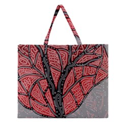 Decorative Tree 1 Zipper Large Tote Bag by Valentinaart