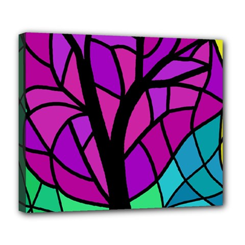 Decorative Tree 2 Deluxe Canvas 24  X 20   by Valentinaart