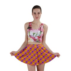 Vibrant Retro Diamond Pattern Mini Skirt