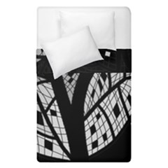 Black And White Tree Duvet Cover (single Size) by Valentinaart