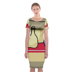 Decorative Art Classic Short Sleeve Midi Dress by Valentinaart
