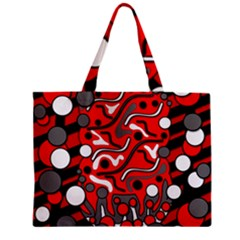 Red Mess Zipper Mini Tote Bag by Valentinaart