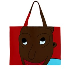 Happy Boy Zipper Large Tote Bag by Valentinaart