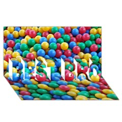 Funny Colorful Red Yellow Green Blue Kids Play Balls Best Bro 3d Greeting Card (8x4)