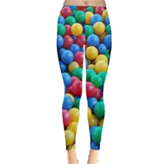 Funny Colorful Red Yellow Green Blue Kids Play Balls Leggings  by yoursparklingshop