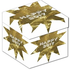 Happy New Year 2017 Gold White Star Storage Stool 12   by yoursparklingshop