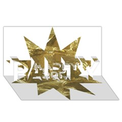 Happy New Year 2017 Gold White Star Party 3d Greeting Card (8x4) by yoursparklingshop