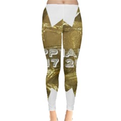 Happy New Year 2017 Gold White Star Leggings  by yoursparklingshop