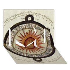 Ancient Aztec Sun Calendar 1790 Vintage Drawing I Love You 3d Greeting Card (7x5) by yoursparklingshop