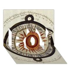 Ancient Aztec Sun Calendar 1790 Vintage Drawing Boy 3d Greeting Card (7x5) by yoursparklingshop
