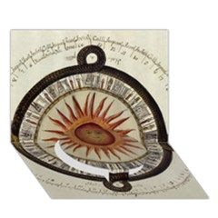 Ancient Aztec Sun Calendar 1790 Vintage Drawing Circle Bottom 3d Greeting Card (7x5) by yoursparklingshop