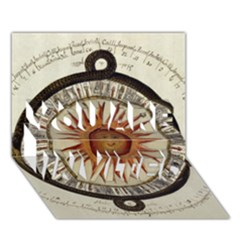 Ancient Aztec Sun Calendar 1790 Vintage Drawing You Are Invited 3d Greeting Card (7x5) by yoursparklingshop