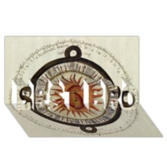Ancient Aztec Sun Calendar 1790 Vintage Drawing Best Bro 3d Greeting Card (8x4) by yoursparklingshop
