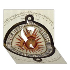 Ancient Aztec Sun Calendar 1790 Vintage Drawing Ribbon 3d Greeting Card (7x5) by yoursparklingshop