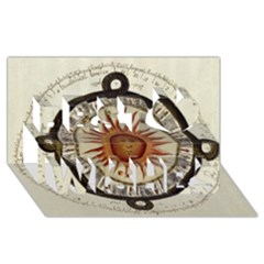 Ancient Aztec Sun Calendar 1790 Vintage Drawing Best Wish 3d Greeting Card (8x4) by yoursparklingshop