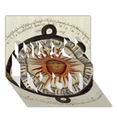 Ancient Aztec Sun Calendar 1790 Vintage Drawing Miss You 3d Greeting Card (7x5) by yoursparklingshop