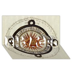 Ancient Aztec Sun Calendar 1790 Vintage Drawing Engaged 3d Greeting Card (8x4) by yoursparklingshop