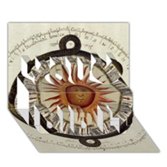 Ancient Aztec Sun Calendar 1790 Vintage Drawing You Did It 3d Greeting Card (7x5) by yoursparklingshop