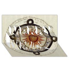 Ancient Aztec Sun Calendar 1790 Vintage Drawing Merry Xmas 3d Greeting Card (8x4) by yoursparklingshop