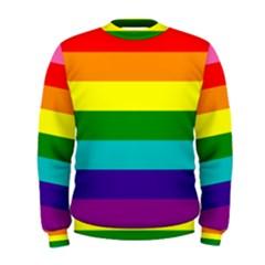 Colorful Stripes Lgbt Rainbow Flag Men s Sweatshirt by yoursparklingshop