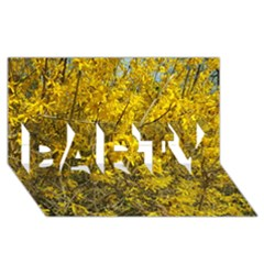 Nature, Yellow Orange Tree Photography Party 3d Greeting Card (8x4) by yoursparklingshop