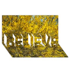Nature, Yellow Orange Tree Photography BELIEVE 3D Greeting Card (8x4) by yoursparklingshop