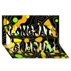 Floating Congrats Graduate 3D Greeting Card (8x4) by Valentinaart