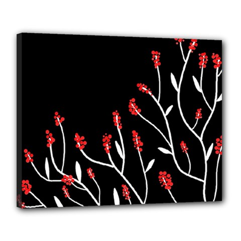 Elegant Tree 2 Canvas 20  X 16  by Valentinaart