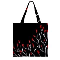 Elegant Tree 2 Zipper Grocery Tote Bag by Valentinaart