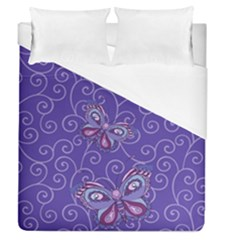 Butterfly Duvet Cover (Queen Size) by olgart