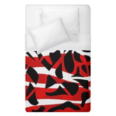 Red Chaos Duvet Cover (single Size) by Valentinaart