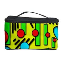 Colorful Chaos Cosmetic Storage Case by Valentinaart