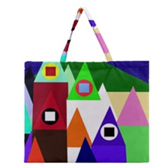 Colorful Houses  Zipper Large Tote Bag by Valentinaart