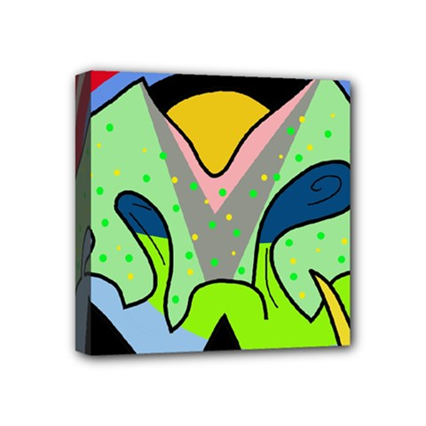 Colorful Landscape Mini Canvas 4  X 4  by Valentinaart