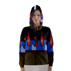 Table Hooded Wind Breaker (women)