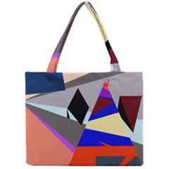 Geometrical Abstract Design Mini Tote Bag by Valentinaart