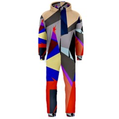Geometrical Abstract Design Hooded Jumpsuit (men)  by Valentinaart